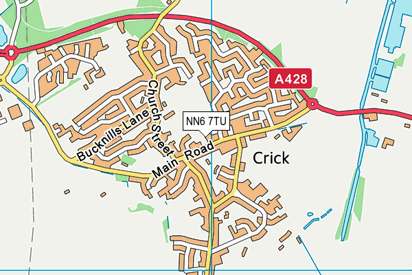 Crick Primary School map (NN6 7TU) - OS VectorMap District (Ordnance Survey)