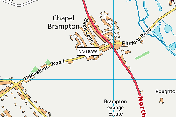 The Bramptons Primary School map (NN6 8AW) - OS VectorMap District (Ordnance Survey)
