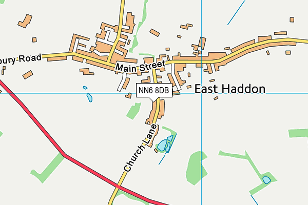 East Haddon Church of England Primary School map (NN6 8DB) - OS VectorMap District (Ordnance Survey)