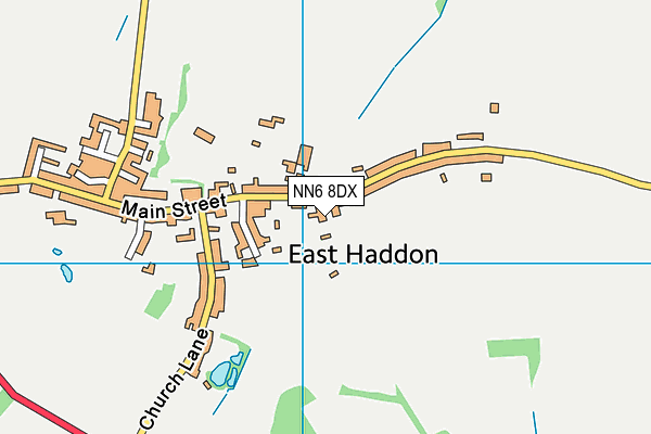 East Haddon War Memorial Playing Field map (NN6 8DX) - OS VectorMap District (Ordnance Survey)