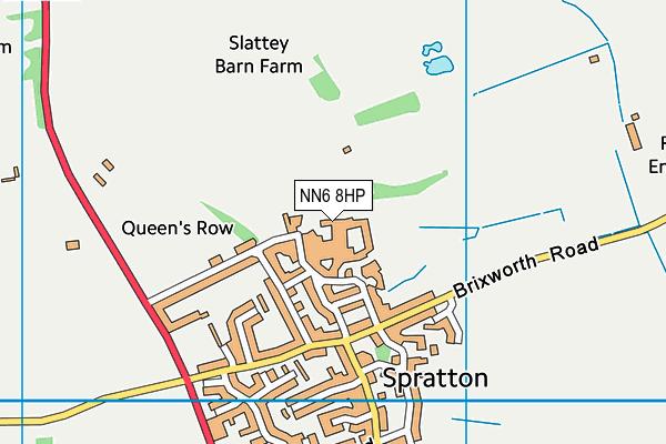 Spratton Hall School map (NN6 8HP) - OS VectorMap District (Ordnance Survey)