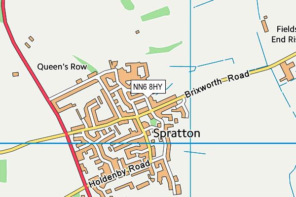 Spratton Church of Engand Primary School map (NN6 8HY) - OS VectorMap District (Ordnance Survey)