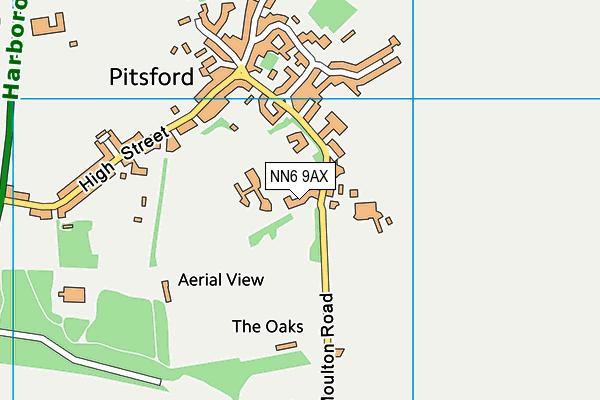Pitsford School map (NN6 9AX) - OS VectorMap District (Ordnance Survey)