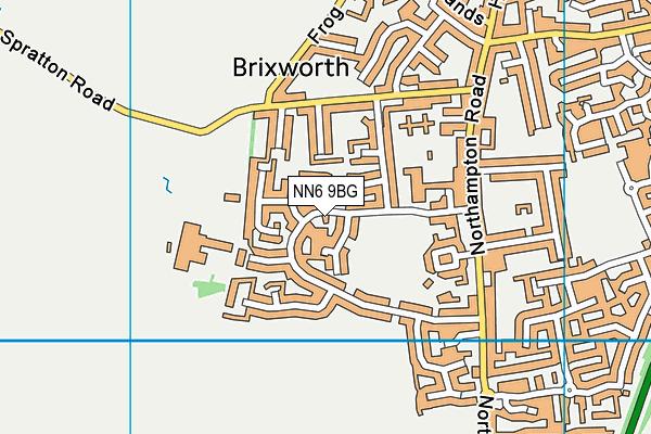 Brixworth CofE VC Primary School map (NN6 9BG) - OS VectorMap District (Ordnance Survey)