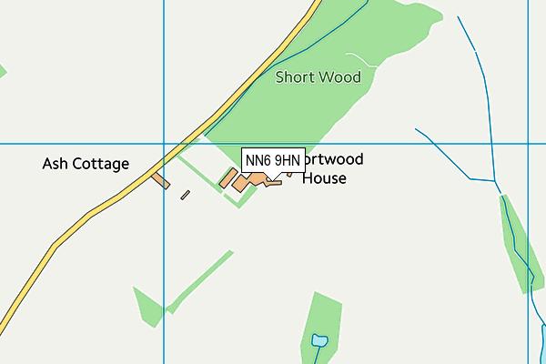 NN6 9HN map - OS VectorMap District (Ordnance Survey)