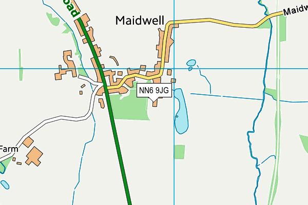 NN6 9JG map - OS VectorMap District (Ordnance Survey)