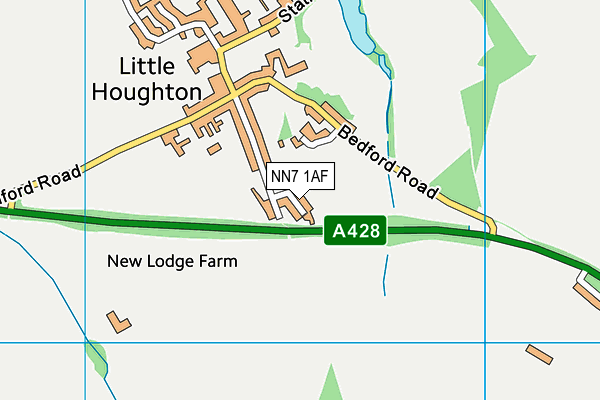Little Houghton Church of England Primary map (NN7 1AF) - OS VectorMap District (Ordnance Survey)