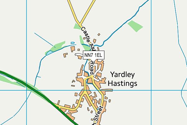 Yardley Hastings Primary School map (NN7 1EL) - OS VectorMap District (Ordnance Survey)