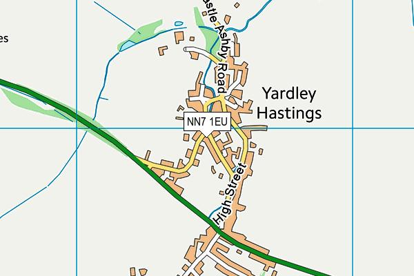 NN7 1EU map - OS VectorMap District (Ordnance Survey)