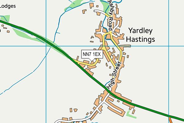 NN7 1EX map - OS VectorMap District (Ordnance Survey)