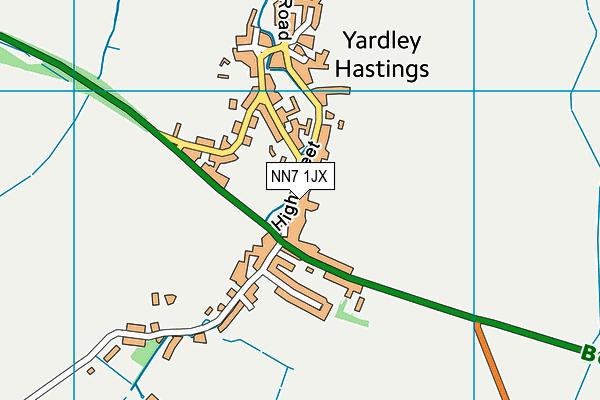 NN7 1JX map - OS VectorMap District (Ordnance Survey)