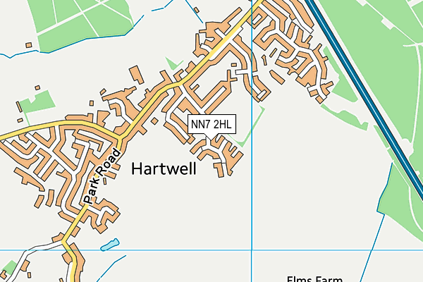 Hartwell Primary School map (NN7 2HL) - OS VectorMap District (Ordnance Survey)