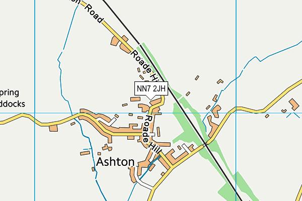 Ashton CofE Primary School map (NN7 2JH) - OS VectorMap District (Ordnance Survey)