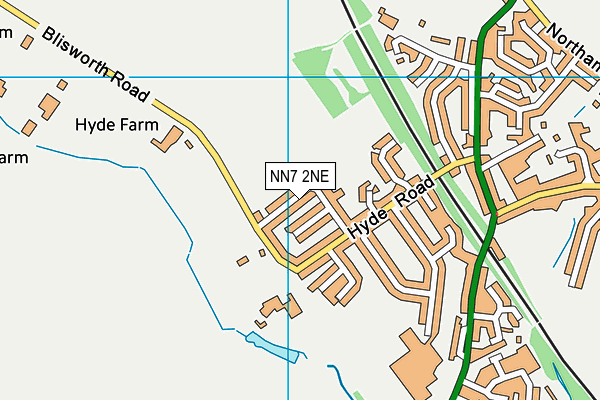 Roade Football Club (Dovecote Road) map (NN7 2NE) - OS VectorMap District (Ordnance Survey)