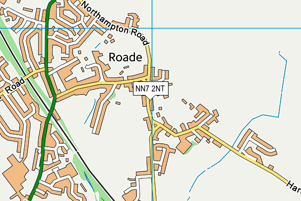 Roade Primary School map (NN7 2NT) - OS VectorMap District (Ordnance Survey)