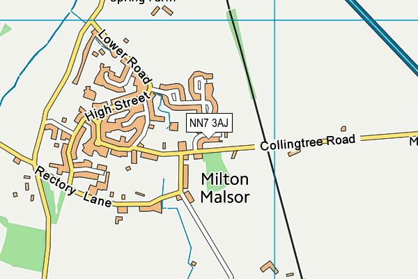 NN7 3AJ map - OS VectorMap District (Ordnance Survey)