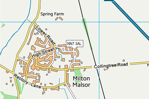 NN7 3AL map - OS VectorMap District (Ordnance Survey)
