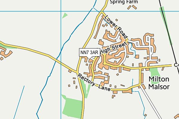 NN7 3AR map - OS VectorMap District (Ordnance Survey)