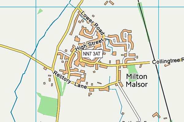 Milton Parochial Primary School map (NN7 3AT) - OS VectorMap District (Ordnance Survey)