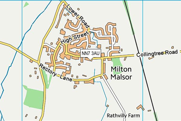 NN7 3AU map - OS VectorMap District (Ordnance Survey)