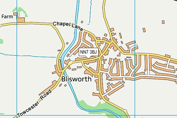 NN7 3BJ map - OS VectorMap District (Ordnance Survey)
