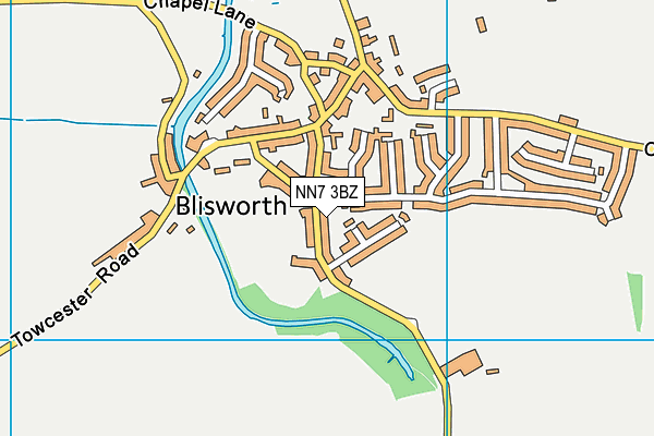 NN7 3BZ map - OS VectorMap District (Ordnance Survey)