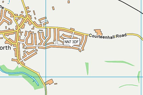 NN7 3DF map - OS VectorMap District (Ordnance Survey)