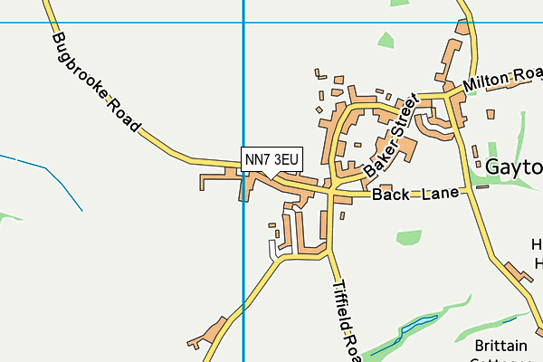NN7 3EU map - OS VectorMap District (Ordnance Survey)