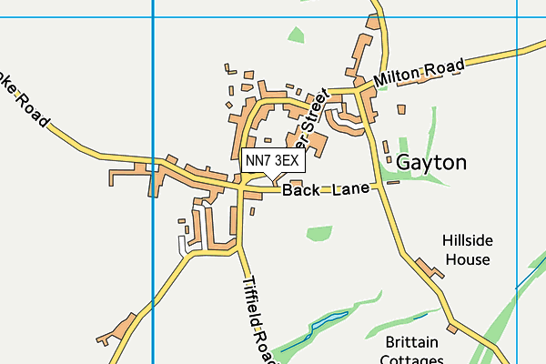 NN7 3EX map - OS VectorMap District (Ordnance Survey)