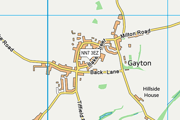 NN7 3EZ map - OS VectorMap District (Ordnance Survey)