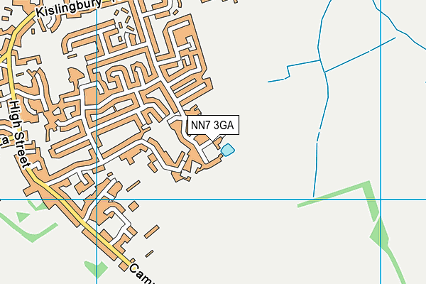 NN7 3GA map - OS VectorMap District (Ordnance Survey)