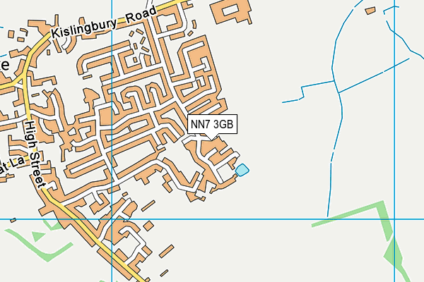 NN7 3GB map - OS VectorMap District (Ordnance Survey)