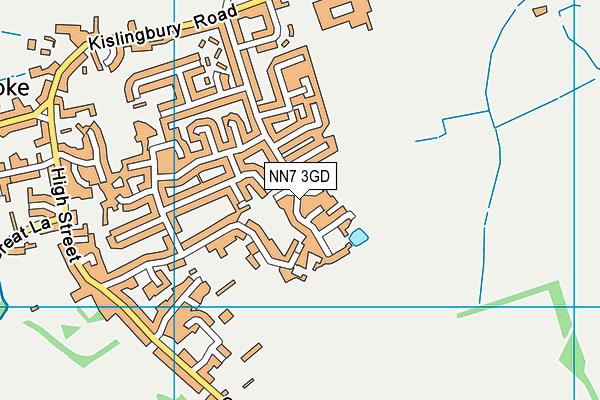 NN7 3GD map - OS VectorMap District (Ordnance Survey)