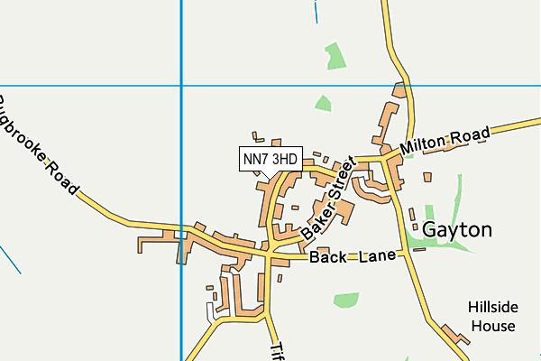 NN7 3HD map - OS VectorMap District (Ordnance Survey)