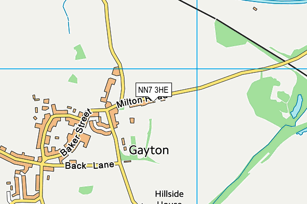 NN7 3HE map - OS VectorMap District (Ordnance Survey)