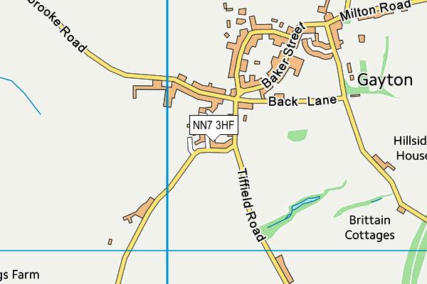 NN7 3HF map - OS VectorMap District (Ordnance Survey)