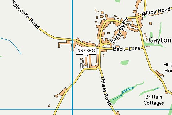 Gayton Village Hall map (NN7 3HG) - OS VectorMap District (Ordnance Survey)