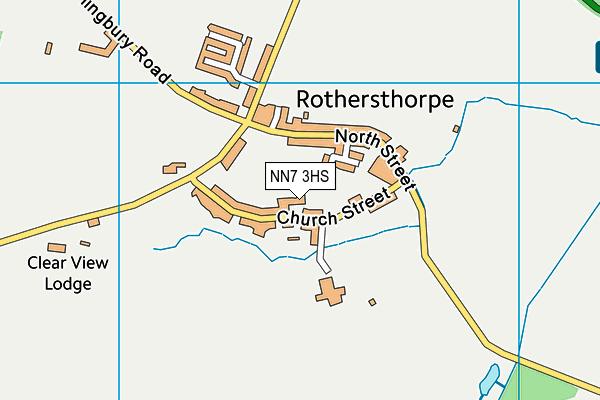 NN7 3HS map - OS VectorMap District (Ordnance Survey)