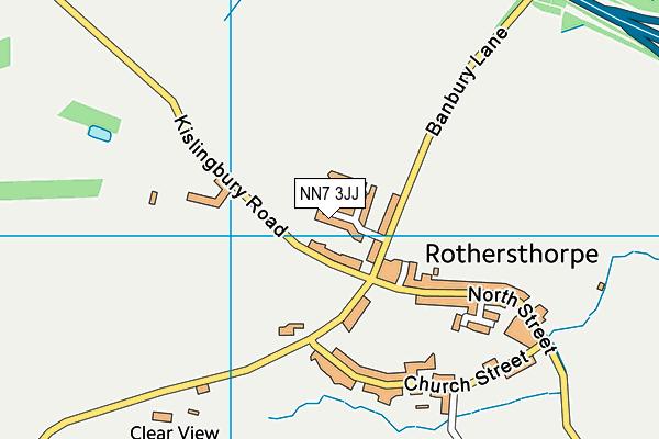 NN7 3JJ map - OS VectorMap District (Ordnance Survey)