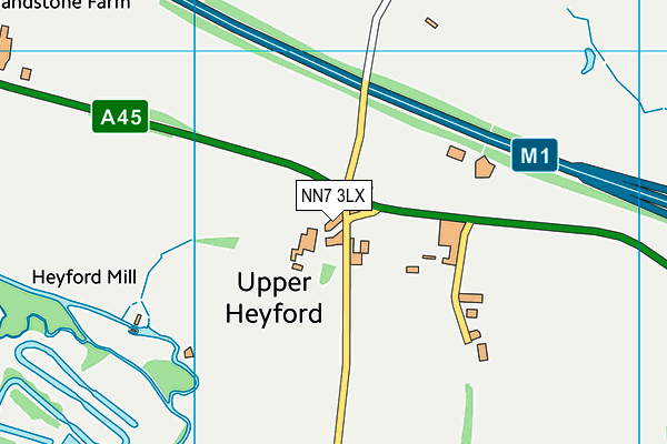 NN7 3LX map - OS VectorMap District (Ordnance Survey)
