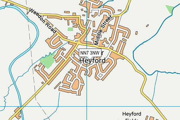 NN7 3NW map - OS VectorMap District (Ordnance Survey)