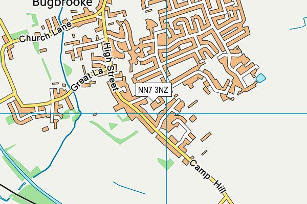 NN7 3NZ map - OS VectorMap District (Ordnance Survey)
