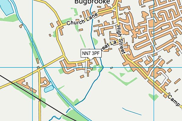 Bugbrooke Cricket Club map (NN7 3PF) - OS VectorMap District (Ordnance Survey)