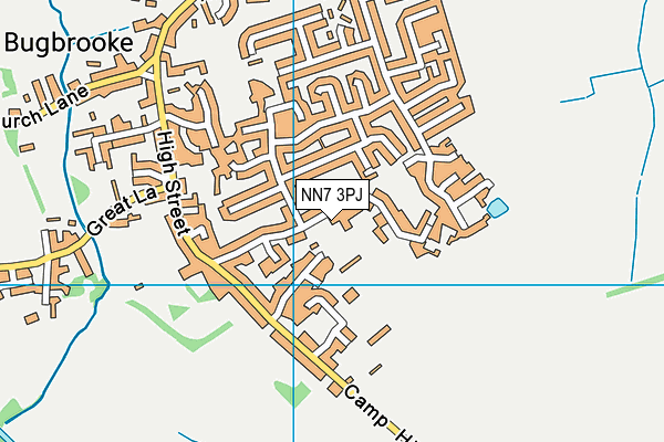 NN7 3PJ map - OS VectorMap District (Ordnance Survey)