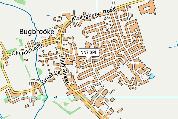 NN7 3PL map - OS VectorMap District (Ordnance Survey)