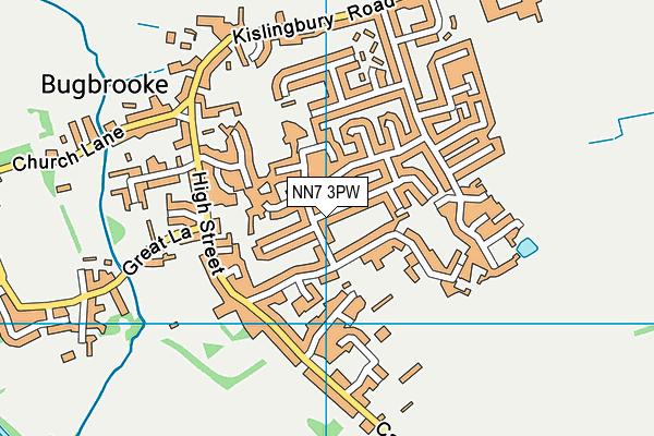 NN7 3PW map - OS VectorMap District (Ordnance Survey)