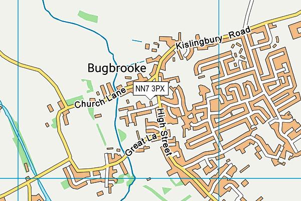 NN7 3PX map - OS VectorMap District (Ordnance Survey)