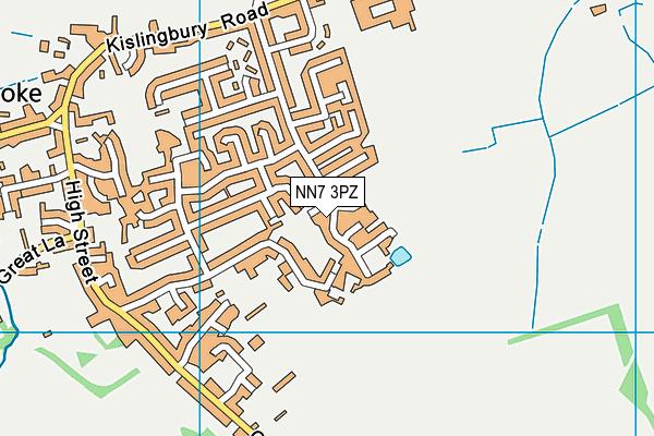 NN7 3PZ map - OS VectorMap District (Ordnance Survey)