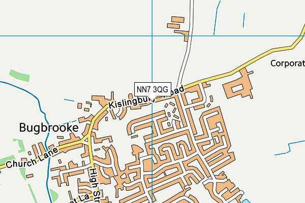Campion School map (NN7 3QG) - OS VectorMap District (Ordnance Survey)