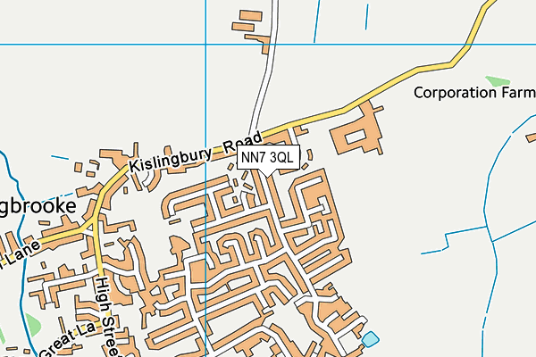 NN7 3QL map - OS VectorMap District (Ordnance Survey)